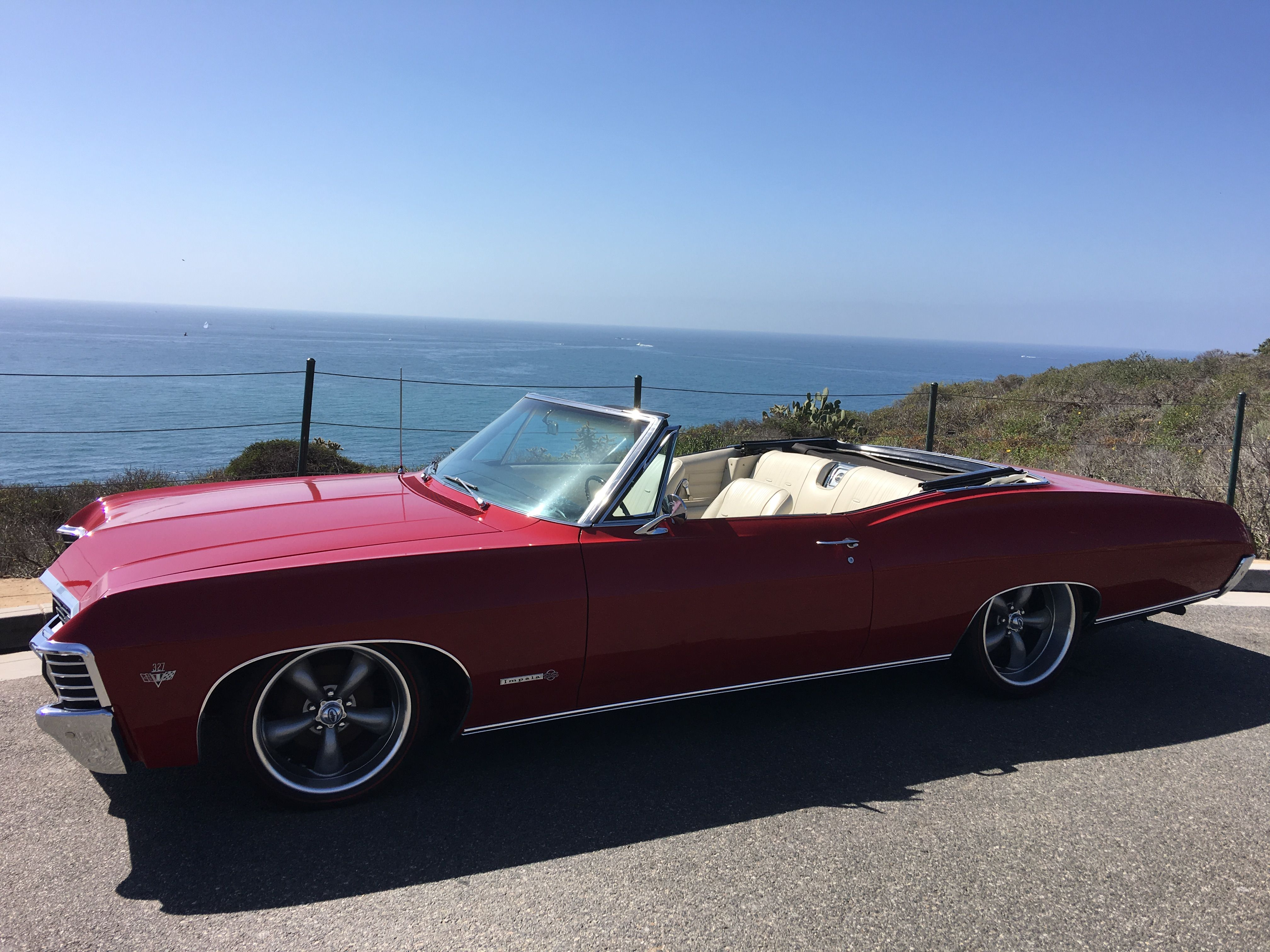 1967 impala ss ridetech coilovers coys diamond back redlines