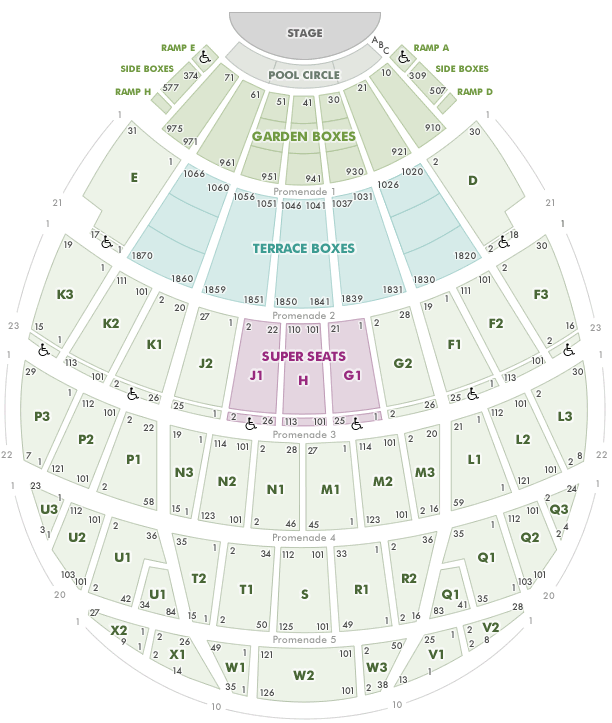 Hollywood Bowl Seating Chart With Seat Views Tickpick Hollywood Bowl Seating The Cure Concert Seating Charts