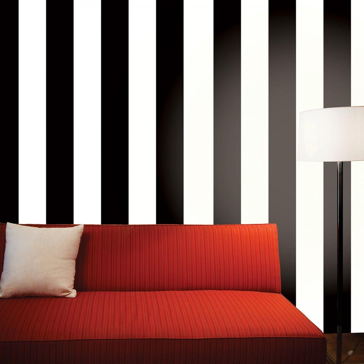 Stripe Black White Striped Temporary Wallpaper Best Removable Wallpaper Striped Wallpaper