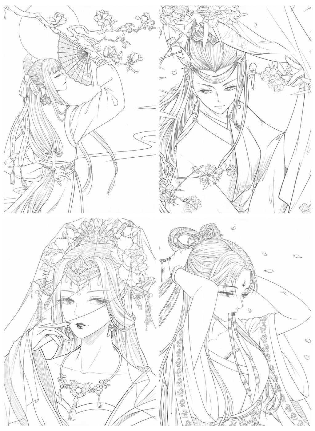Chinese Classic Portrait Coloring Book Vol.1 Kayliebooks