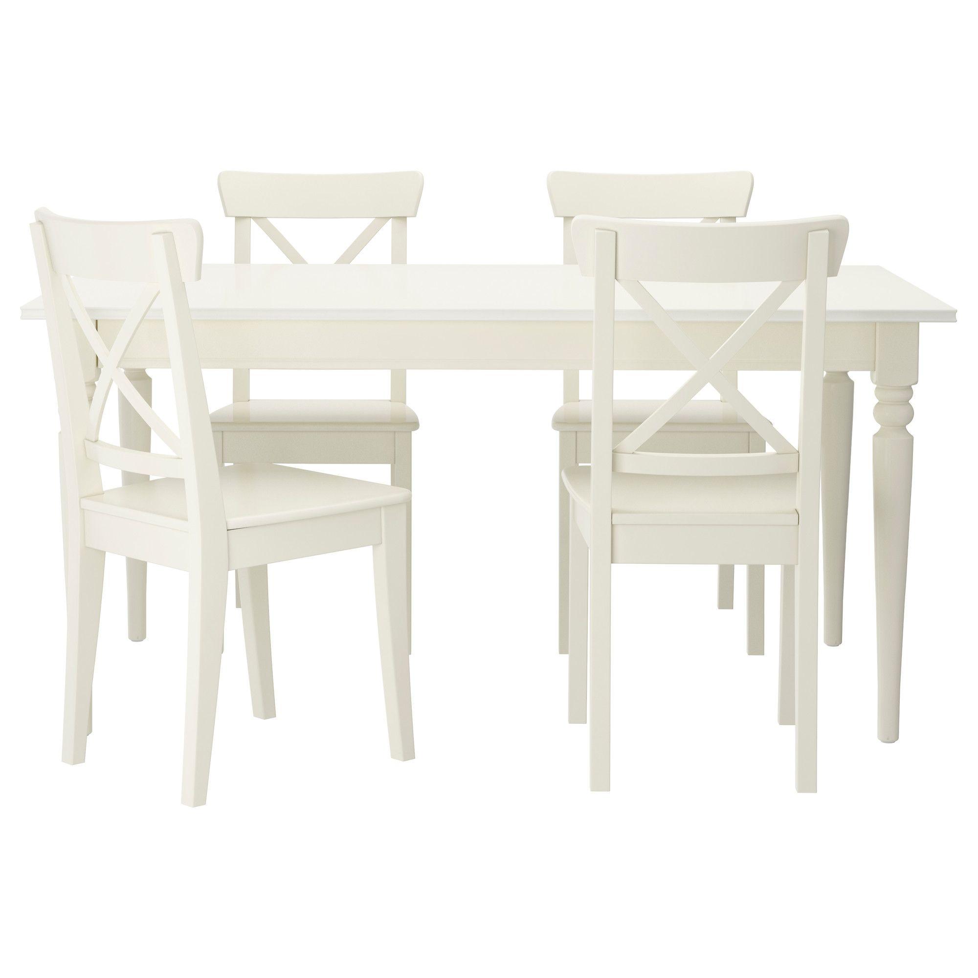 ingatorp / ingolf tisch und 4 stühle, weiß | beach house | pinterest