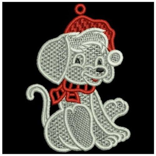 Free Standing Lace Puppy embroidery design