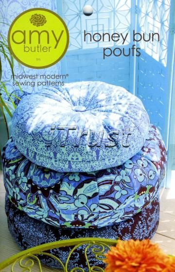 Amy Butler Honey Bun Poufs Sewing Pattern - FREE SHIPPING by iTrust for $11.95