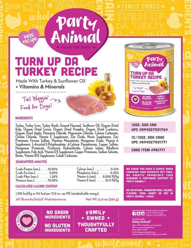 Turn up da turkey recipe Turkey recipes, Canned dog food