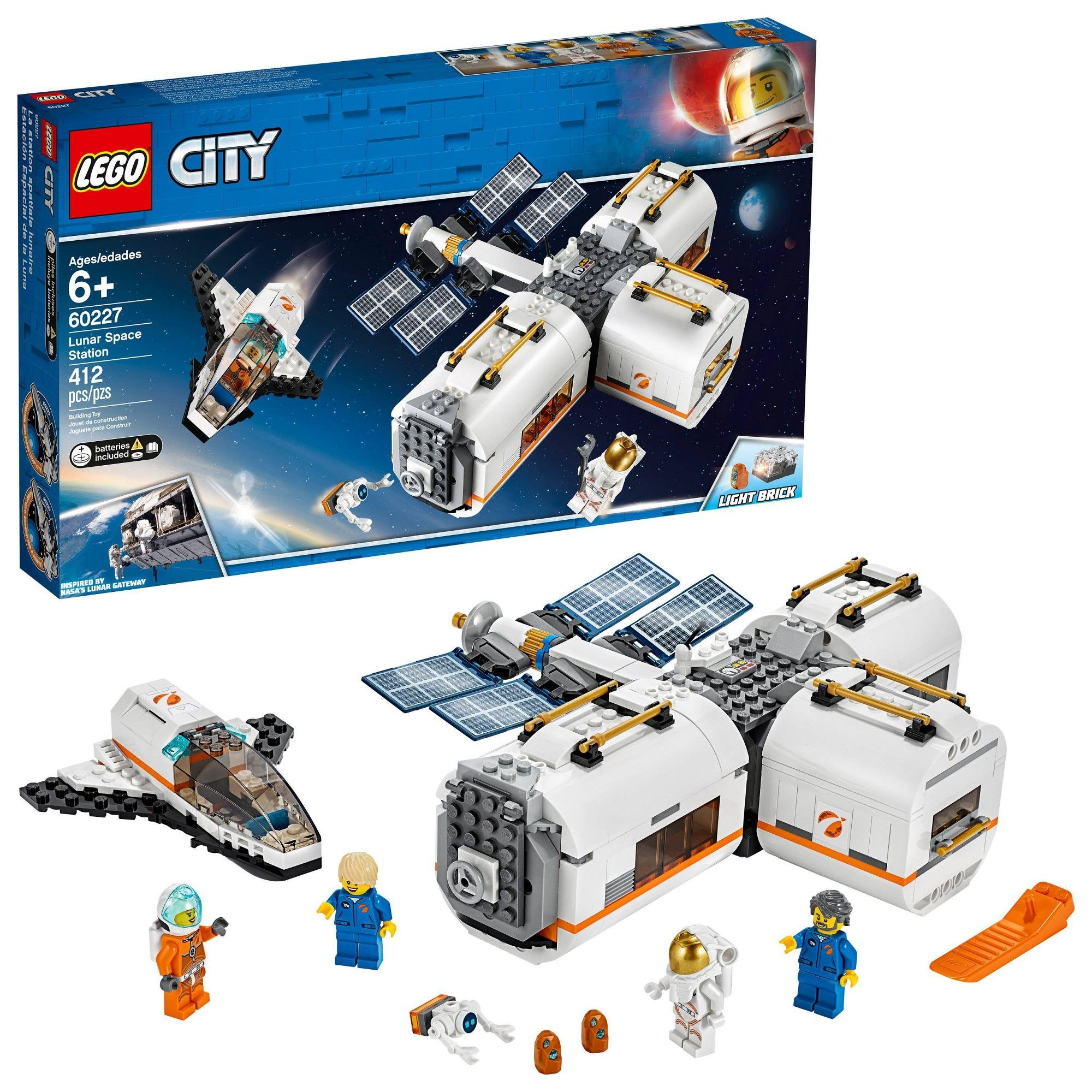 Lego City Space Lunar Space Station 60227 Space Station Building Set With Toy Shuttle Lego City Space Lego City Buy Lego