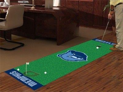 Memphis Grizzlies Golf Putting Green Runner Area Rug Golf Putting Green Green Mat Memphis Grizzlies