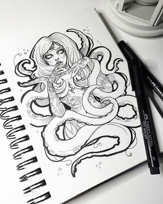 Random tentacle lady.