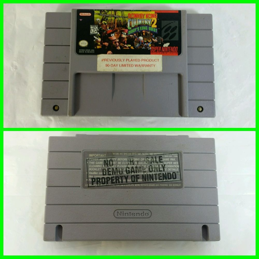 Donkey Kong Country 2: Diddy Kong's Quest Not For Resale NFR SNES Super Nintendo
