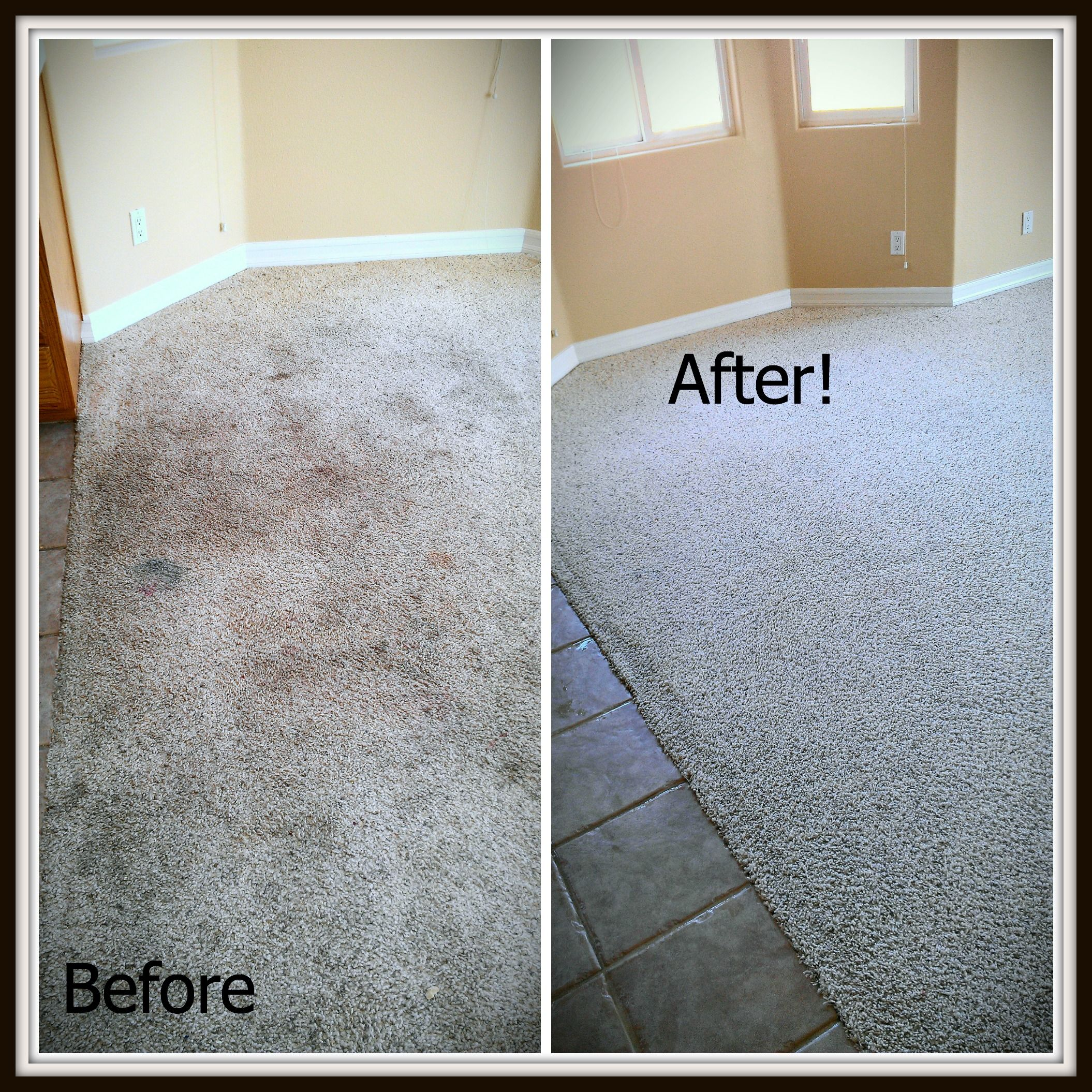 Dirty To Clean Before And After Carpet Cleaning By San
