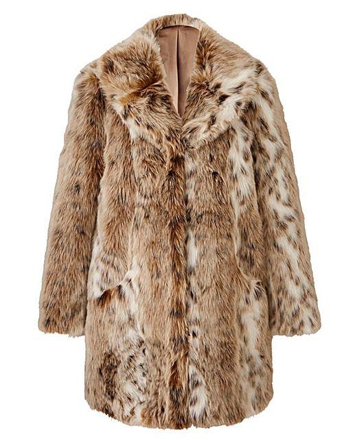 3b90c8a24aaa JOANNA HOPE Faux Fur Coat Plus Size Trench Coat, Plus Size Coats, Coats 2017