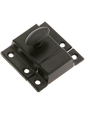 Large Stamped Steel Cabinet Latch With Plated Finish