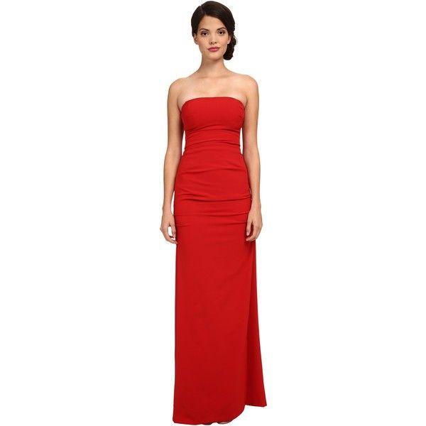 Nicole Miller Felicity Strapless Gown (Red) Women\'s Dress ($183 ...