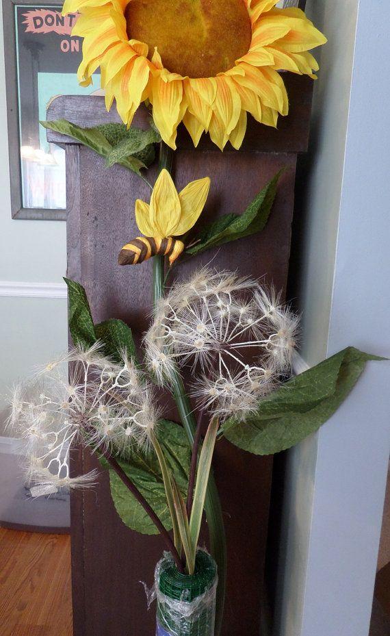 Giant Dandelion Flower 40 Giant Standing Flower Single 8 Head
