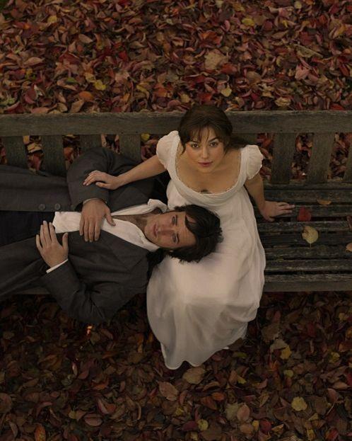 Keira Knightley as Elizabeth Bennet, and Matthew MacFayden as Mr. Darcy