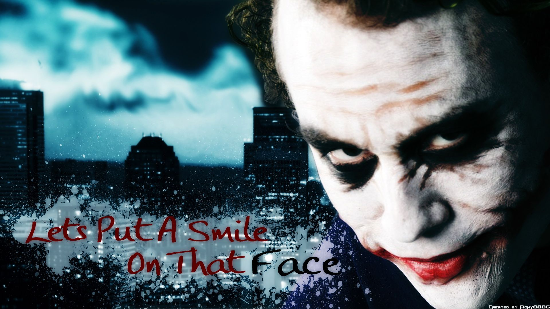 Heath Ledger as The Joker Heath Ledger as The Joker