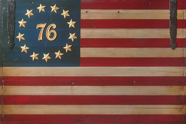 The Spirit Of 76 Flag By David Grant Open Edition Canvas American Flag Images Americana Art Flag