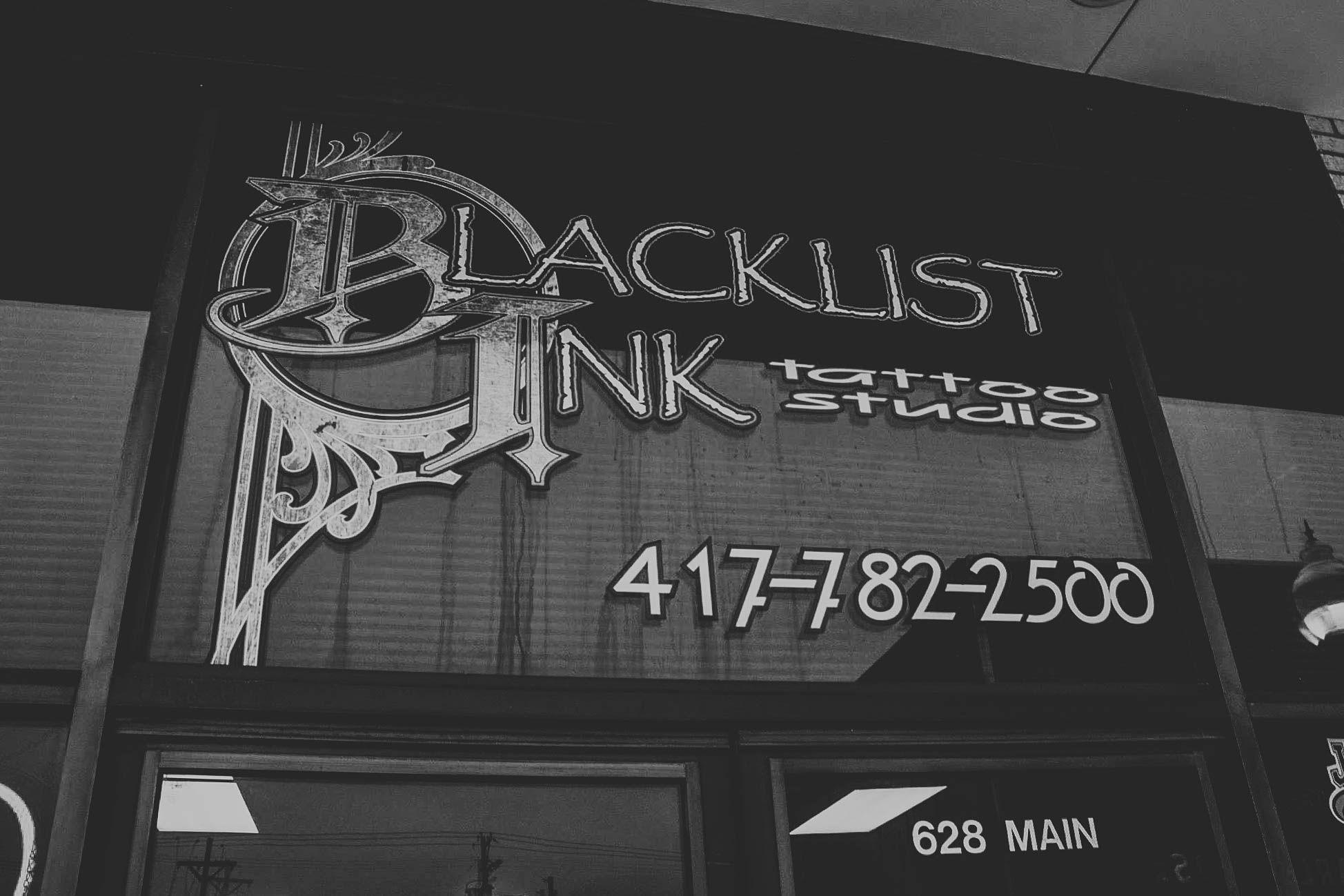 Blacklist Ink Joplin, Missouri. Tattoo Studio, Tattoo Shop