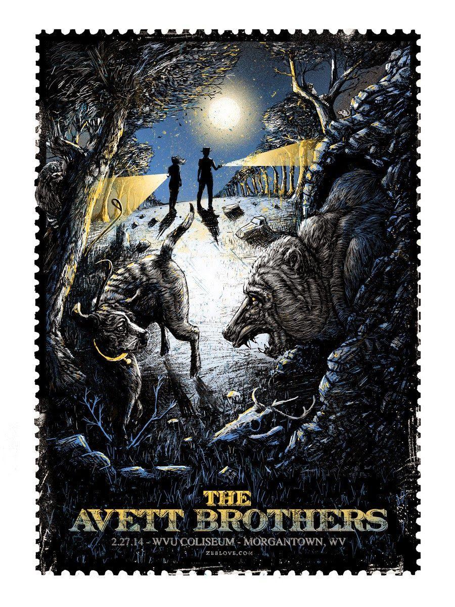 The Avett Brothers Morgantown Zeb Love Poster