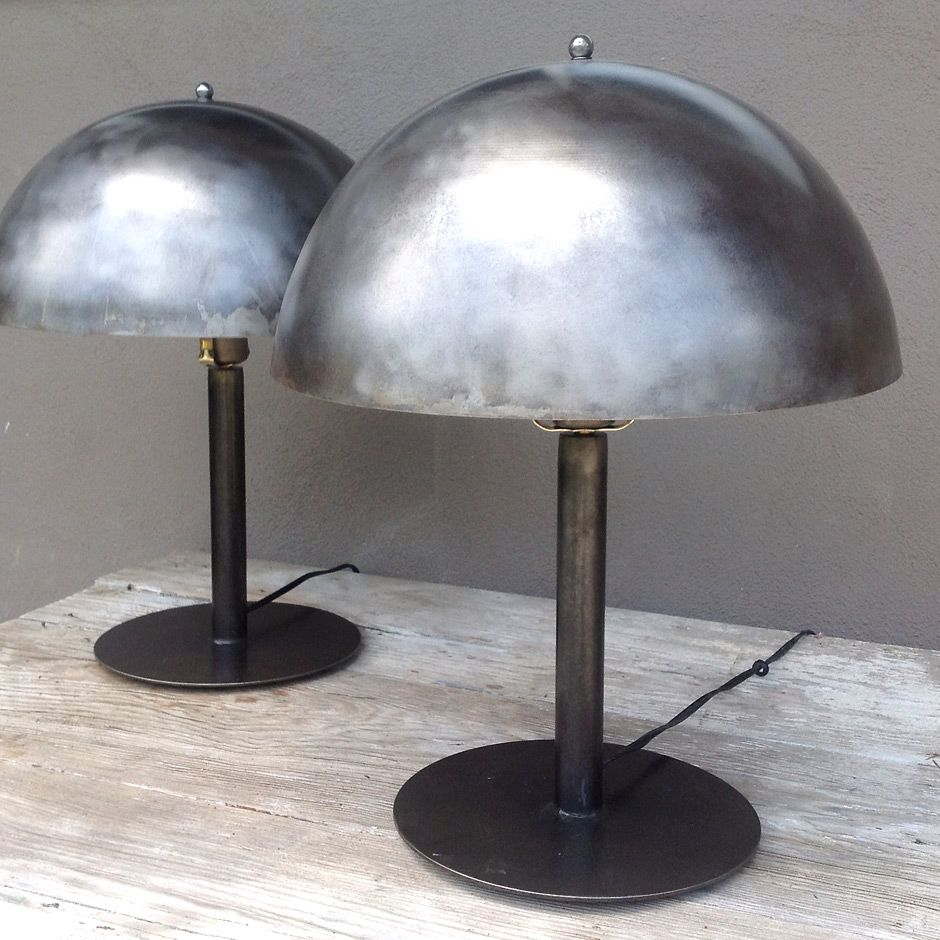 Delicieux Steel Dome Table Lamps Pair Jennifer Price Studio Solo Cedros