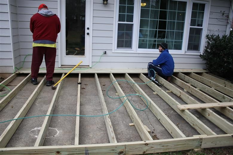 Installing A Deck Over Your Patio Deck Over Concrete Patio