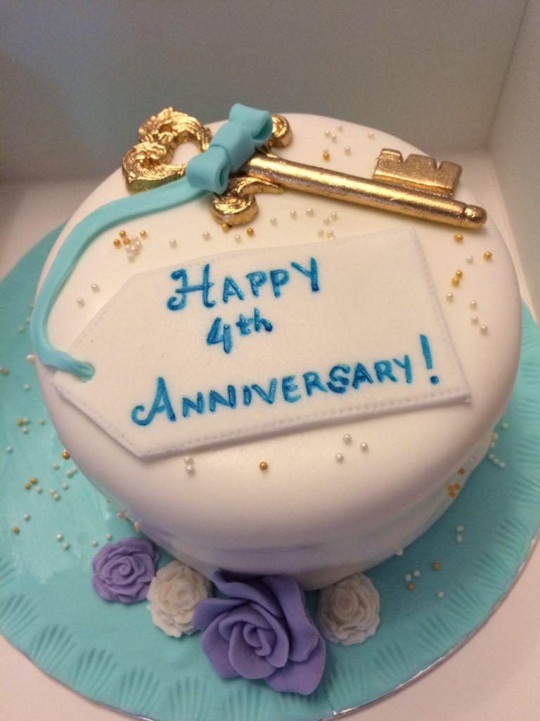 Anniversary Cake Happy 4th Anniversary Anniversary 4th Anniversary