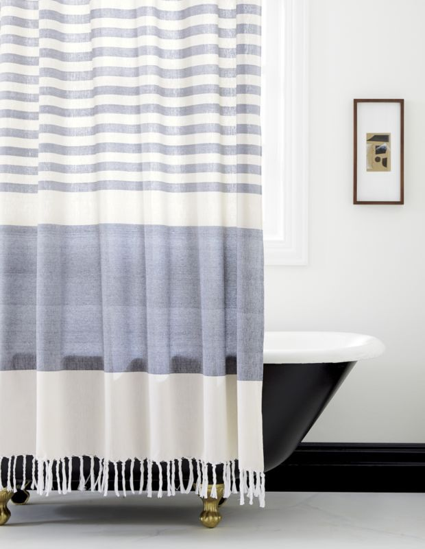 Karla Cement Shower Curtain Reviews Cb2 Bathroom Shower