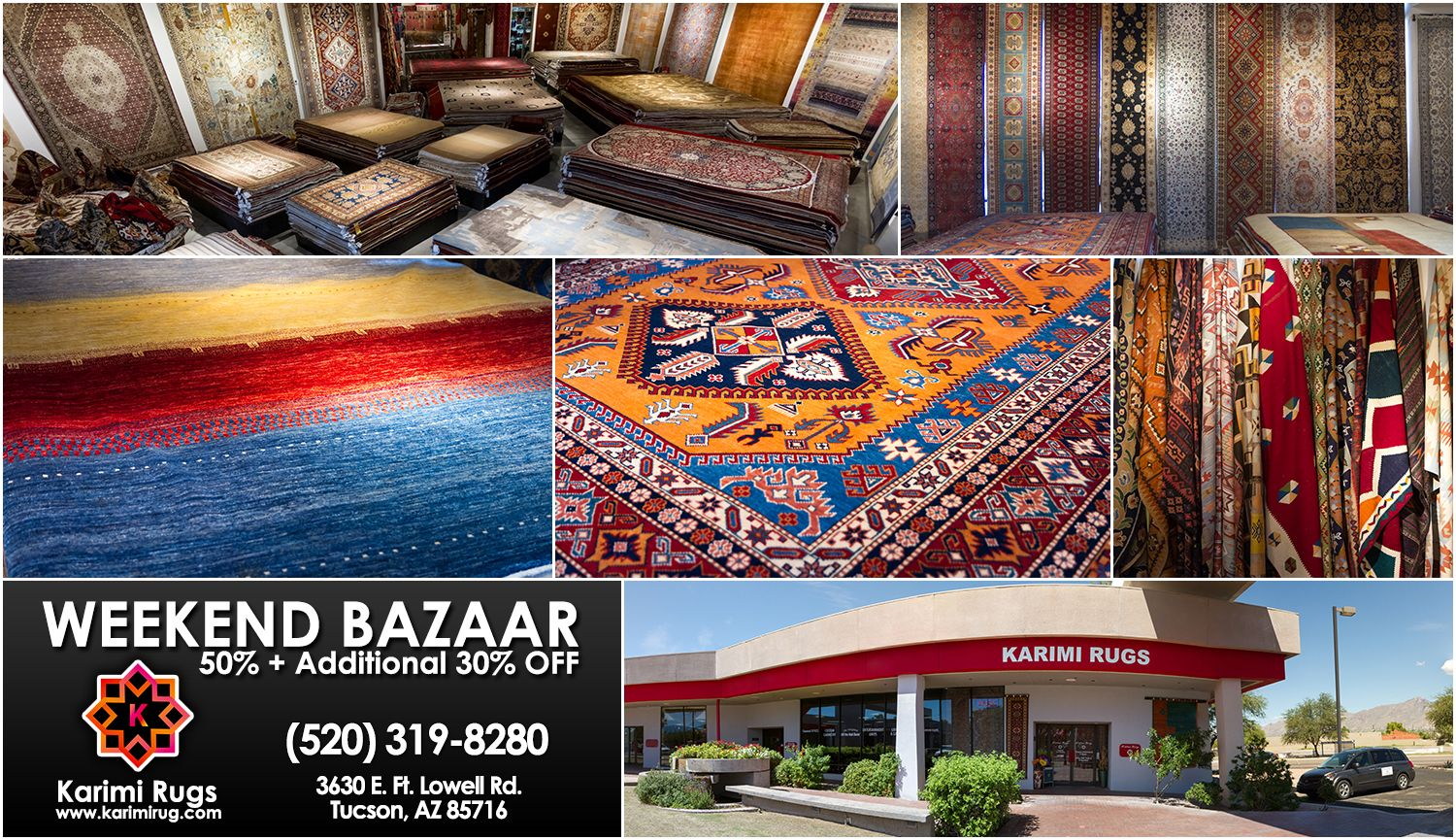 Weekend bazaar at karimi rugs additional off all our