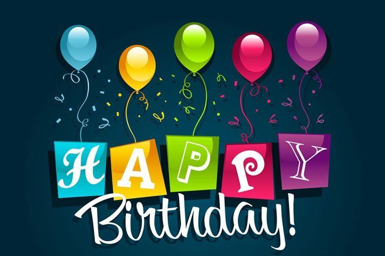 Birthday email stationery stationary colorful birthday