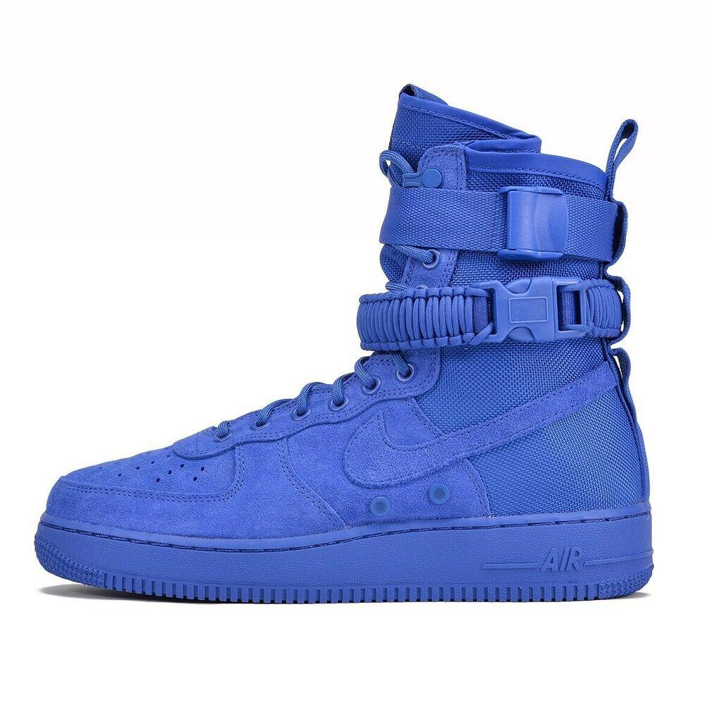 Nike Air Force 1 (High Top Blue) fashion clothing