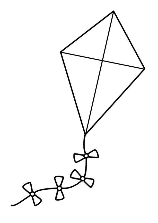 A Large Kite Coloring Pages | Tareas | Pinterest | Kites ...