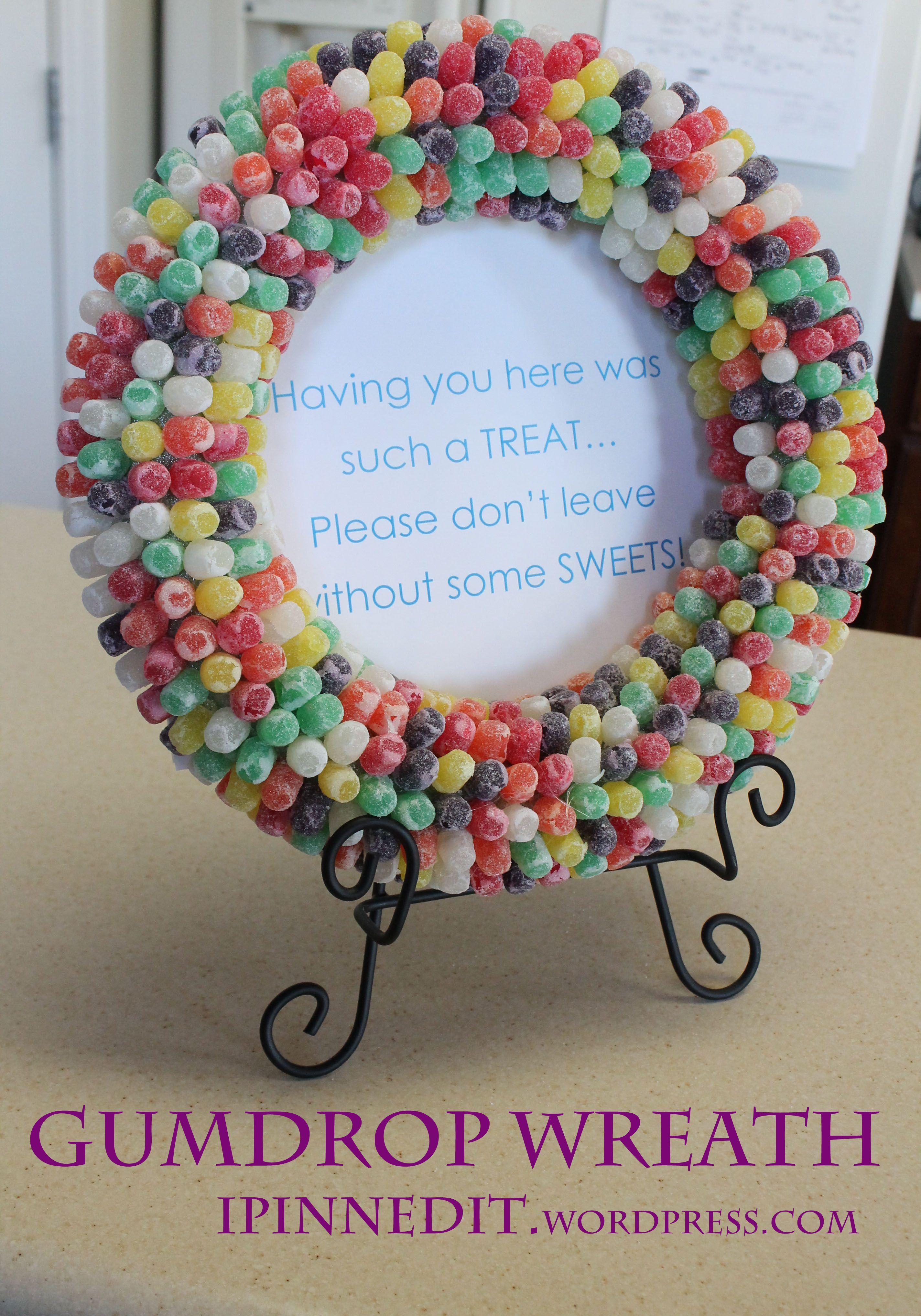 Gumdrop Wreath for Candyland Party #candylanddecorations