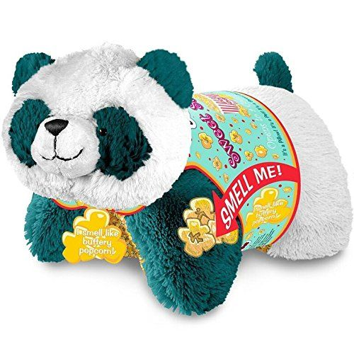 Pillow Pets Sweet Scented Popcorn Panda Stuffed Animal