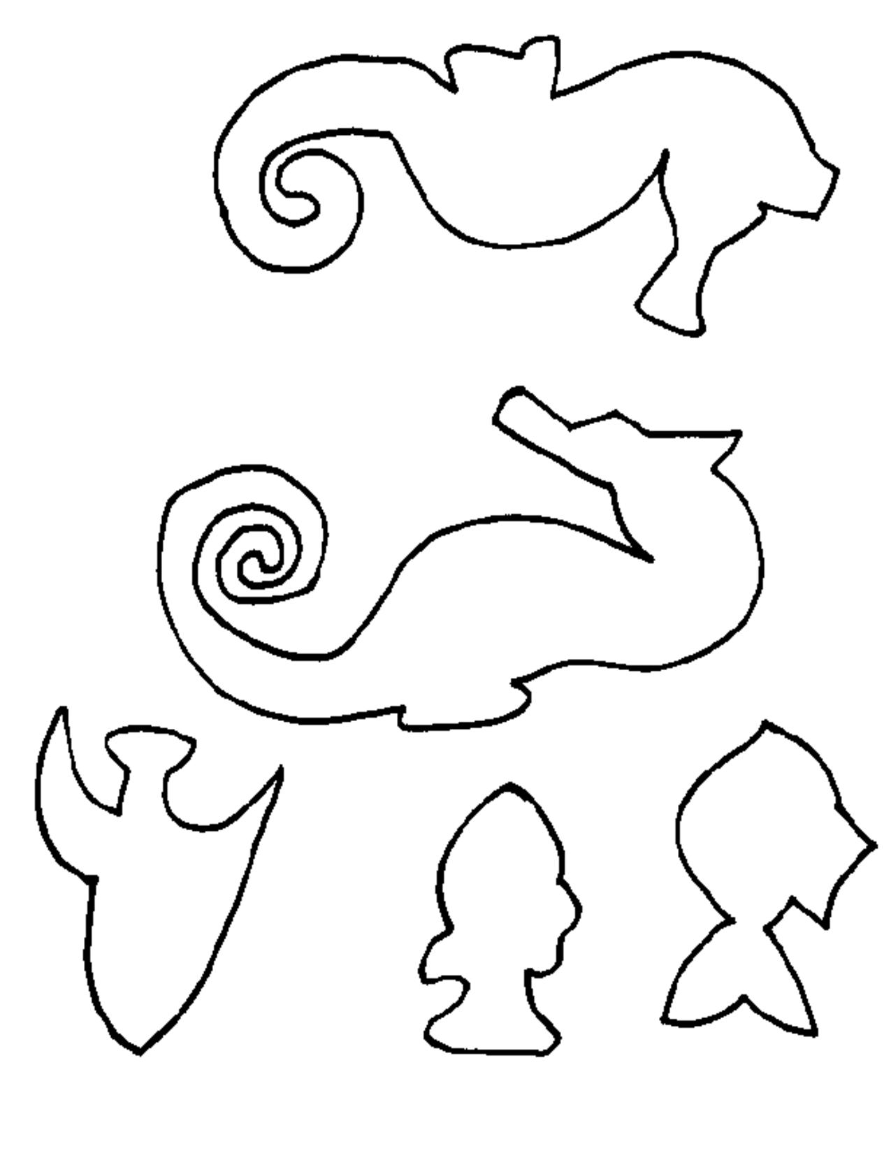 seahorse template pdf craft ideas pinterest seahorses