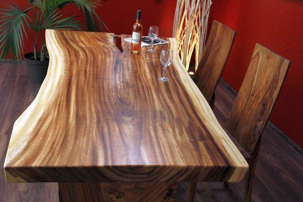 Esstisch Holz Massiv 200x112x79 Suar Honig Natur Küchentisch - k chentisch mit bank