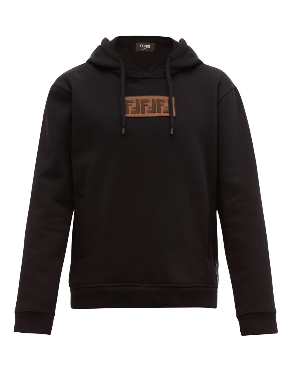 Logo Applique Cotton Blend Hooded Sweatshirt Fendi Matchesfashion Uk Sweatshirts Hooded Sweatshirt Men Hooded Sweatshirts [ 1332 x 1000 Pixel ]