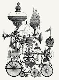 Cool contraption (Chinese Ink drawing)