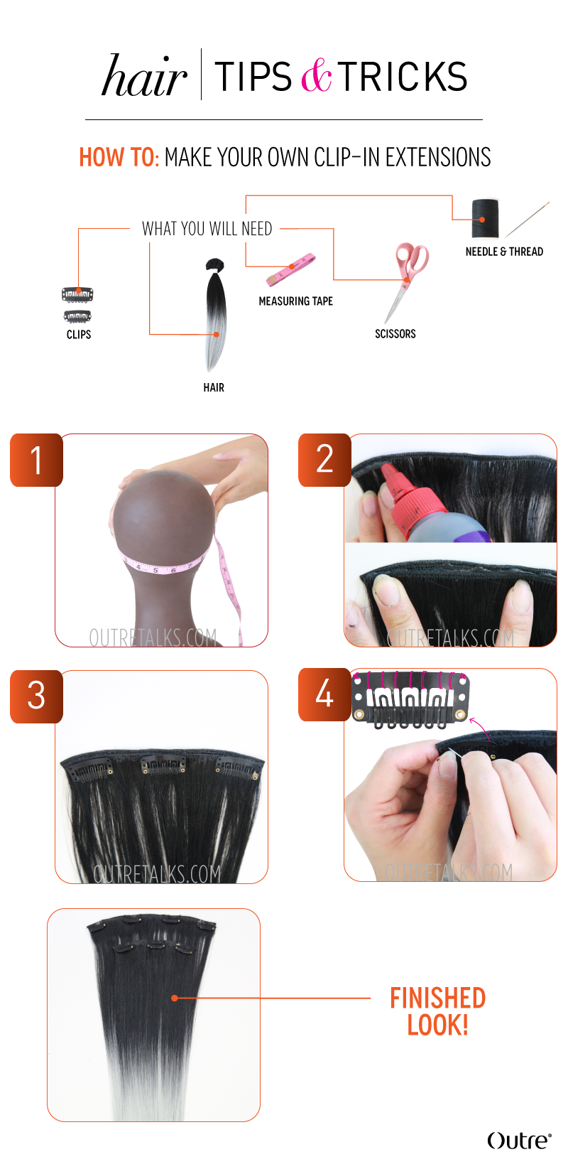 How To Make Your Own Clip In Extensions Extensions Bonding