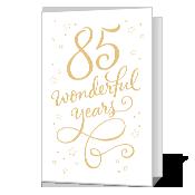 85th Birthday Printable Milestone Birthday Cards Birthday Card Printable Birthday Cards To Print Birthday Cards