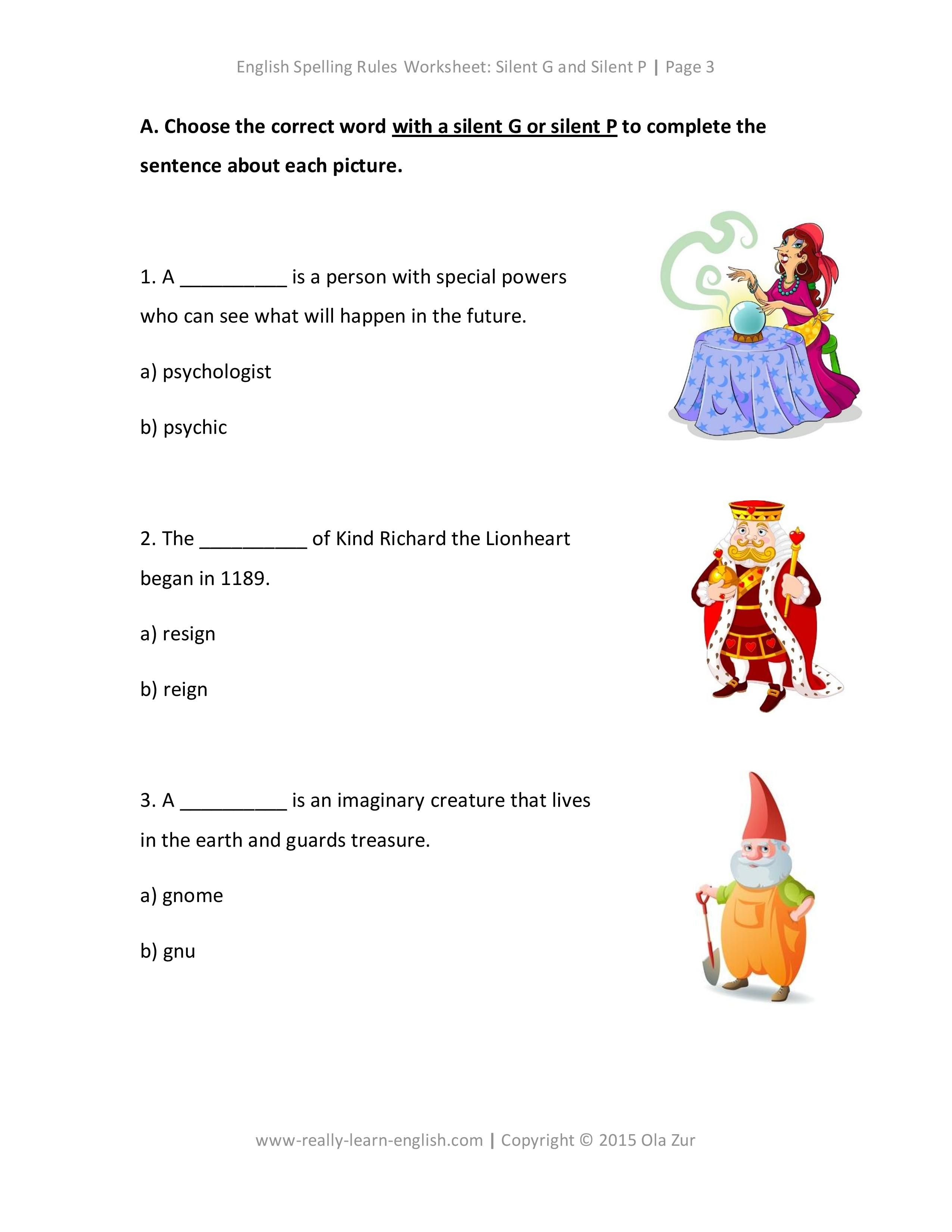 English spelling rules worksheets for silent g and silent p english spelling rules worksheets for silent g and silent p robcynllc Choice Image