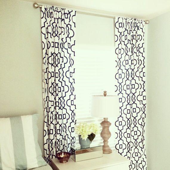 Trellis Drapes Part - 19: Black Bordeaux Trellis Curtain Panels. Window By Thebluebirdshop