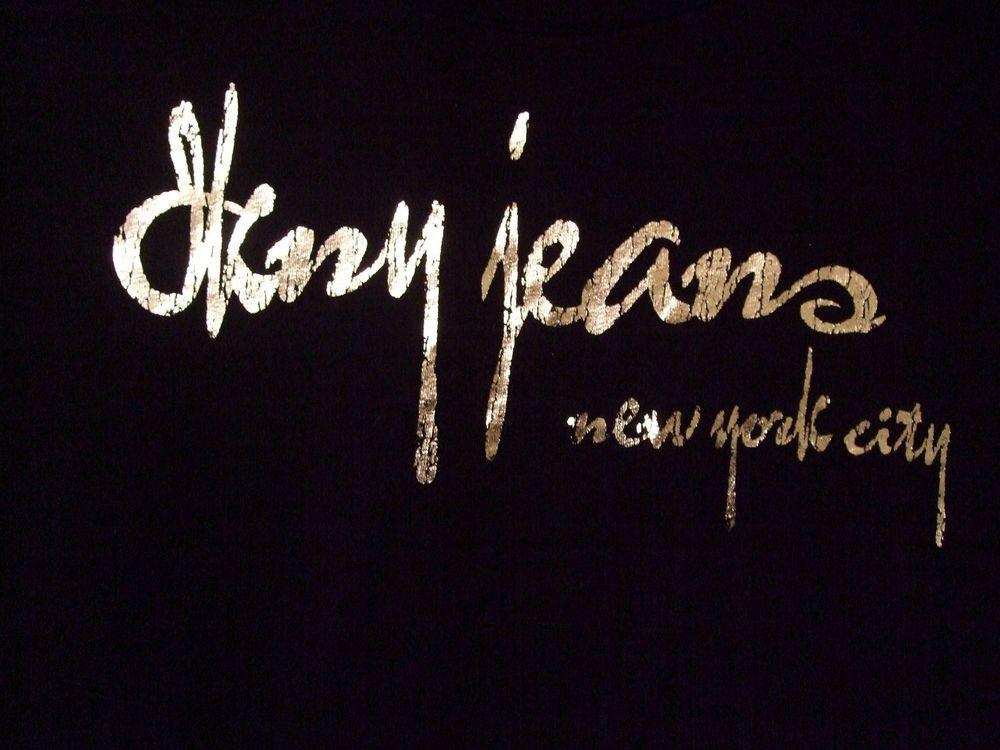 DKNY jeans Top Plus Size 22 24 3X Black Silver DKNY Jeans New York ...