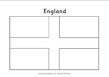 England Flag Colouring Page