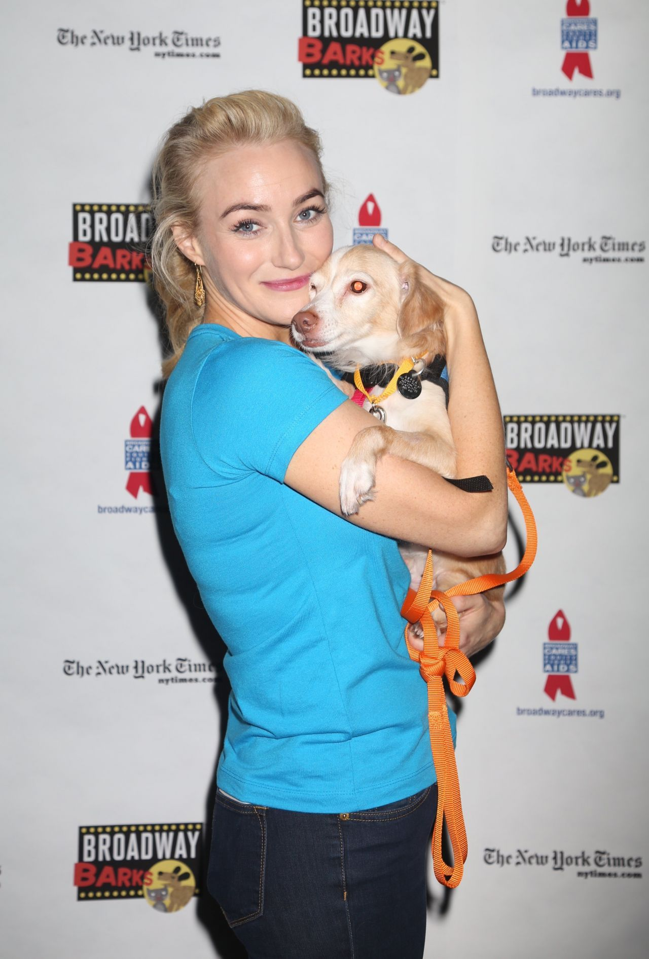 Betsy Wolfe Broadway Barks Animal Adoption Event in New