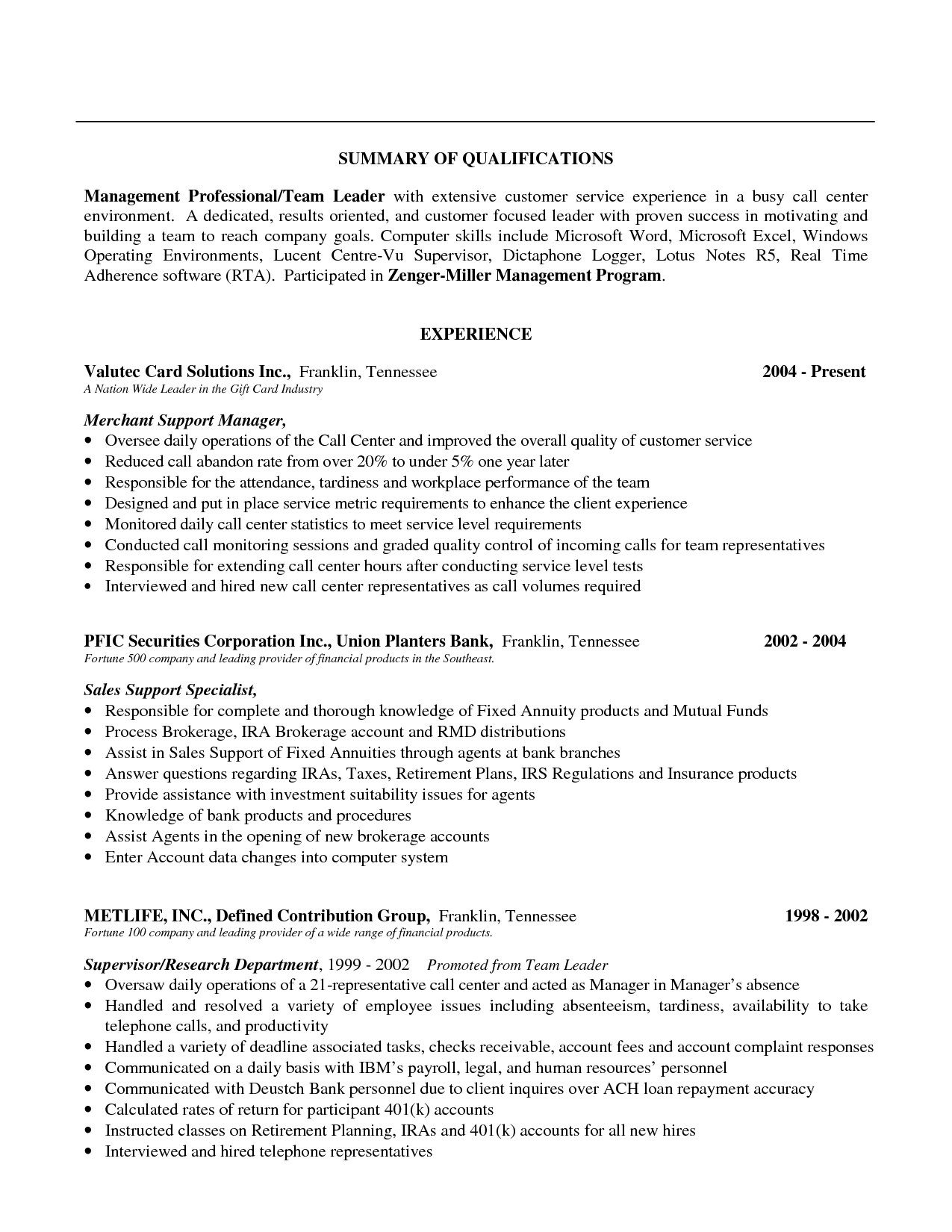 Sample Resume Summary Doc Sample Resumes Summary Qualifications Buyer Resume Statement