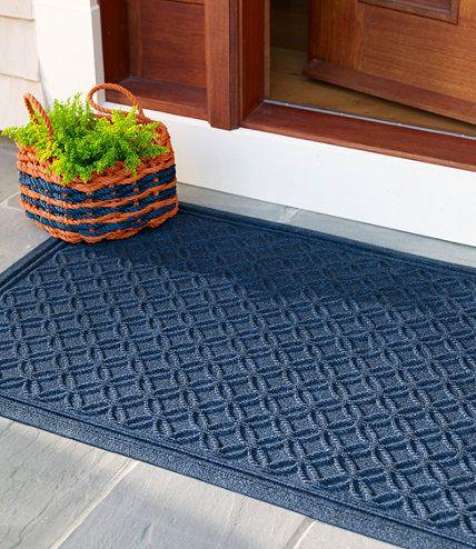 Heavyweight Recycled Waterhog Doormat Locked Circles Waterhog