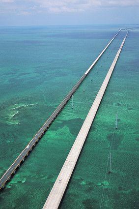 The Seven Mile Bridge, Florida Keys.