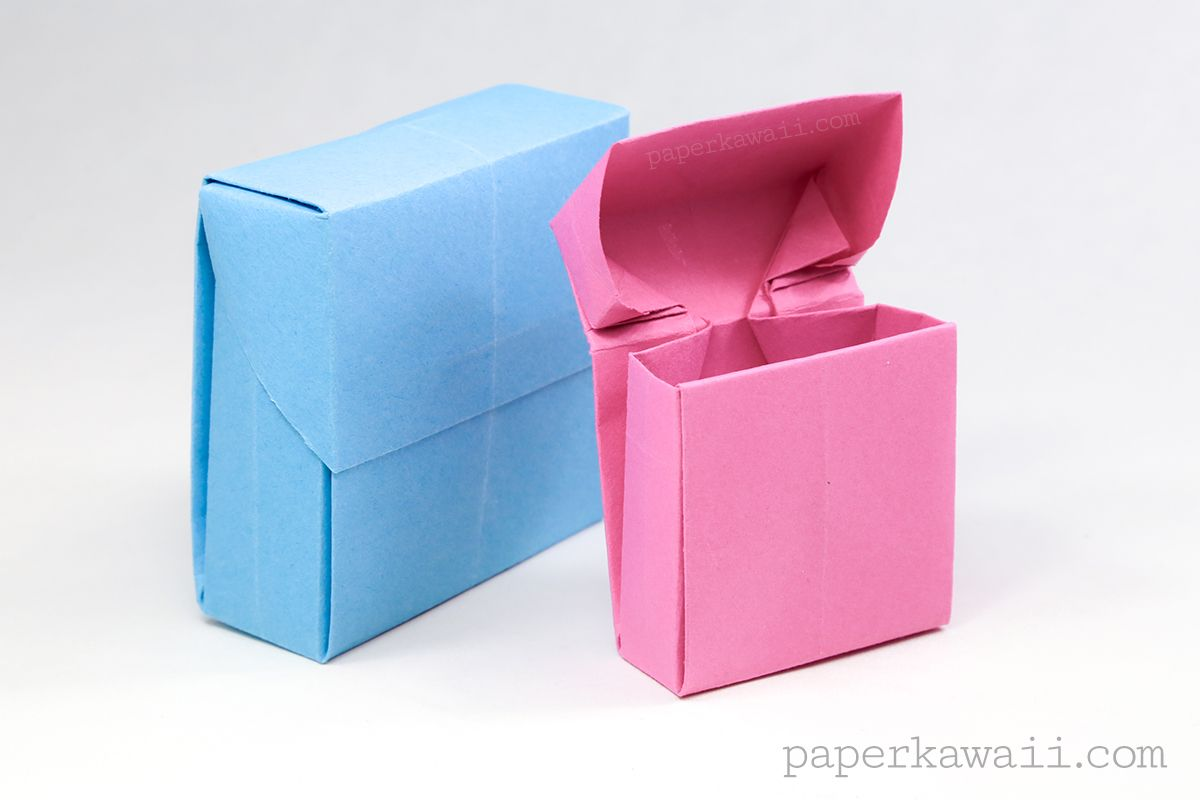 Origami Flip Top Box Instructions | Origami | Origami Box ... - photo#10