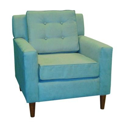Lucy Upholstered Chair - Azua Blue.at Target (would replace legs)
