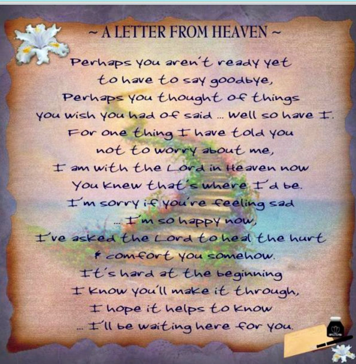Missing you so much remembrance pinterest grief grief loss a letter from heaven i so miss my dad aljukfo Images