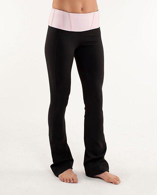 6b7c53e6d8d Lululemon Athletica Yoga Groove Pants Black Light Pink | My Style in ...